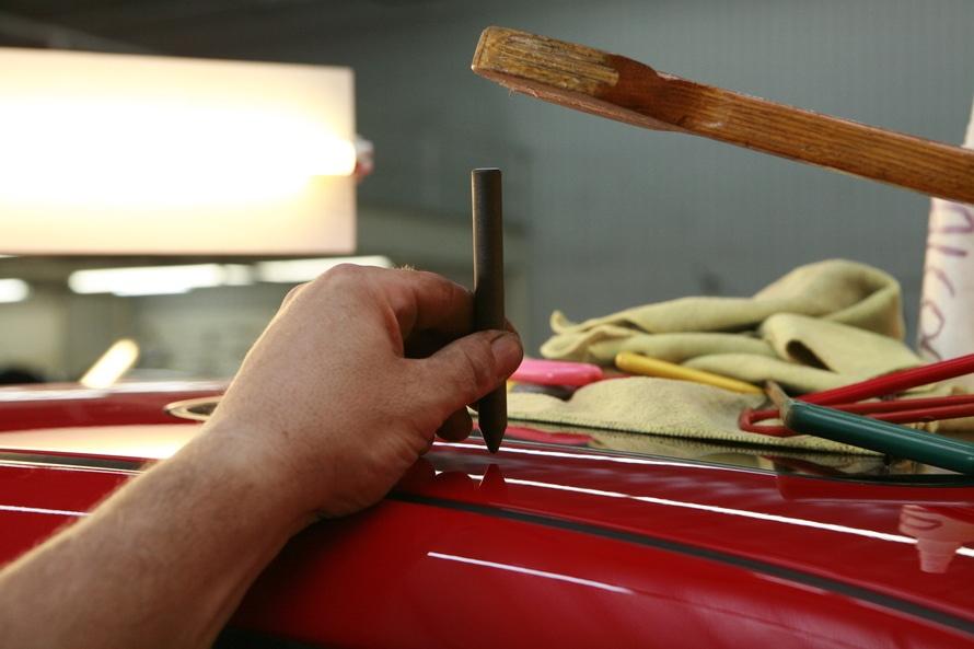 Reparar la pintura del coche